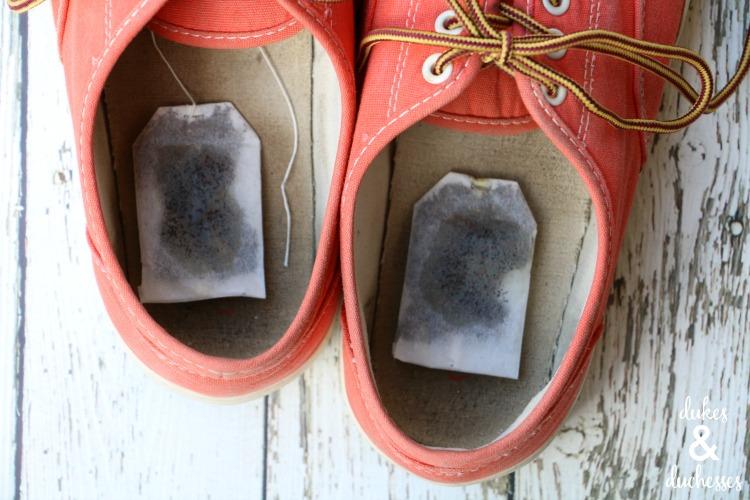 teh sepatu bau