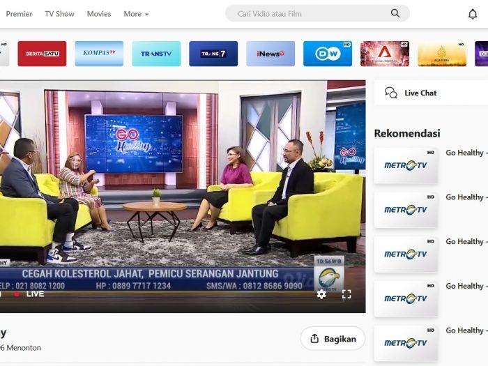 streaming metro tv