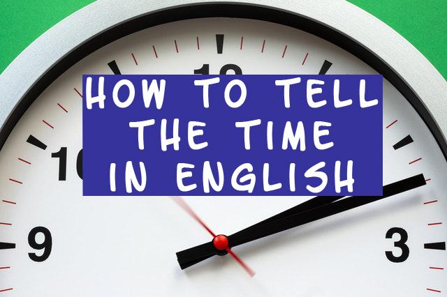 waktu dalam bahasa inggris