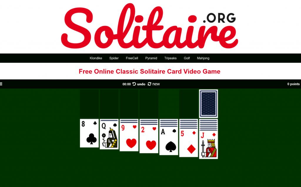 games retro di solitaire.org